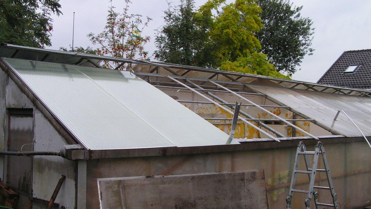 2010: Neues Dach für die Krankenräume