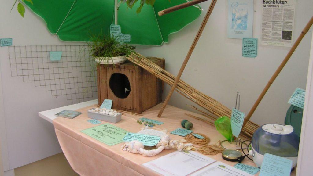 Ausstellungsraum: Präsentation von technischen Hilfsmitteln
