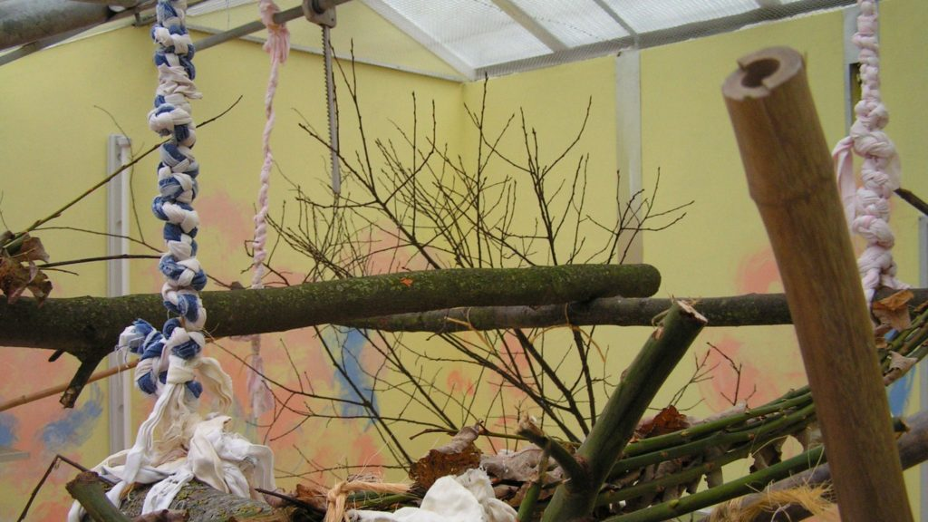 Verwendung von Baumwollzöpfen statt Ketten und Seile