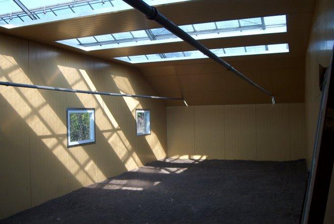 Blick in ein Schutzhaus