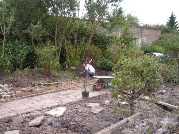 Frühjahr 2005: Erste Vorbereitungen für einen Garten